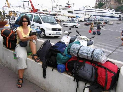 Sycylia 2005, Wyspy Liparyjskie, Lipari, kemping Baia Unci