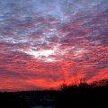 Koluszki , 29.11.2007 r zachód słońca #Koluszki #zachód #słonce