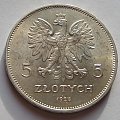 5 zł Nike 1928r ( bez znaku mannicy ). #monety #numizmatyka