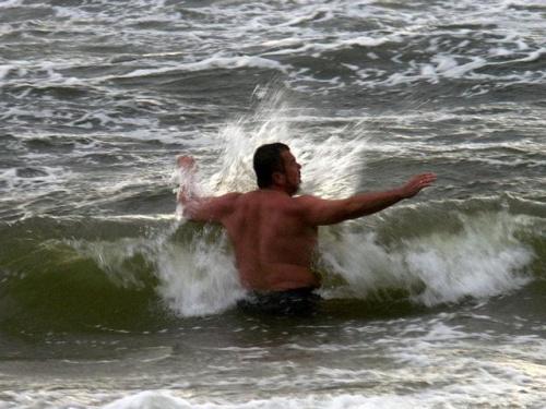 sztorm #morze #kąpiel #fala #Norbert #Pobierowo