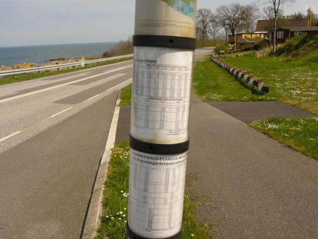 Obrotowy rozkład jazdy #bornholm #dania #rozkład #jazdy #autobusy #tramwaje #komunikacja