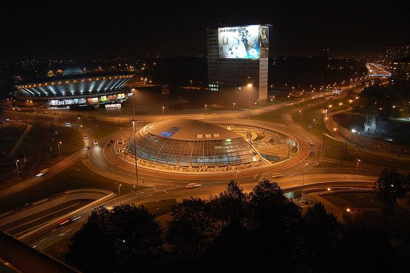 Roundabout, Spodek arena and DOKP building