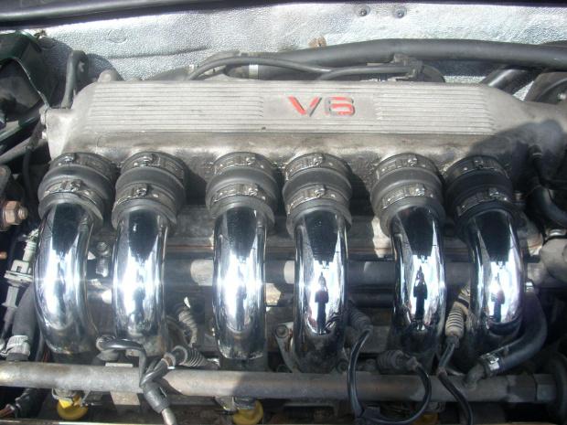 Kolektor dolotowy Alfa Romeo V6 Busso #Busso #AlfaRomeo #benzyna #widlasty #chrom
