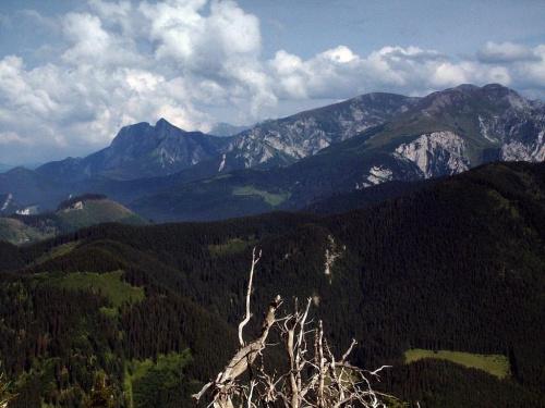 Giewont i Kominiarski Wierch - widok z Furkaski #góry #mountain #Tatry #Zachodnie #Giewont #Kominiarski #Furkaska